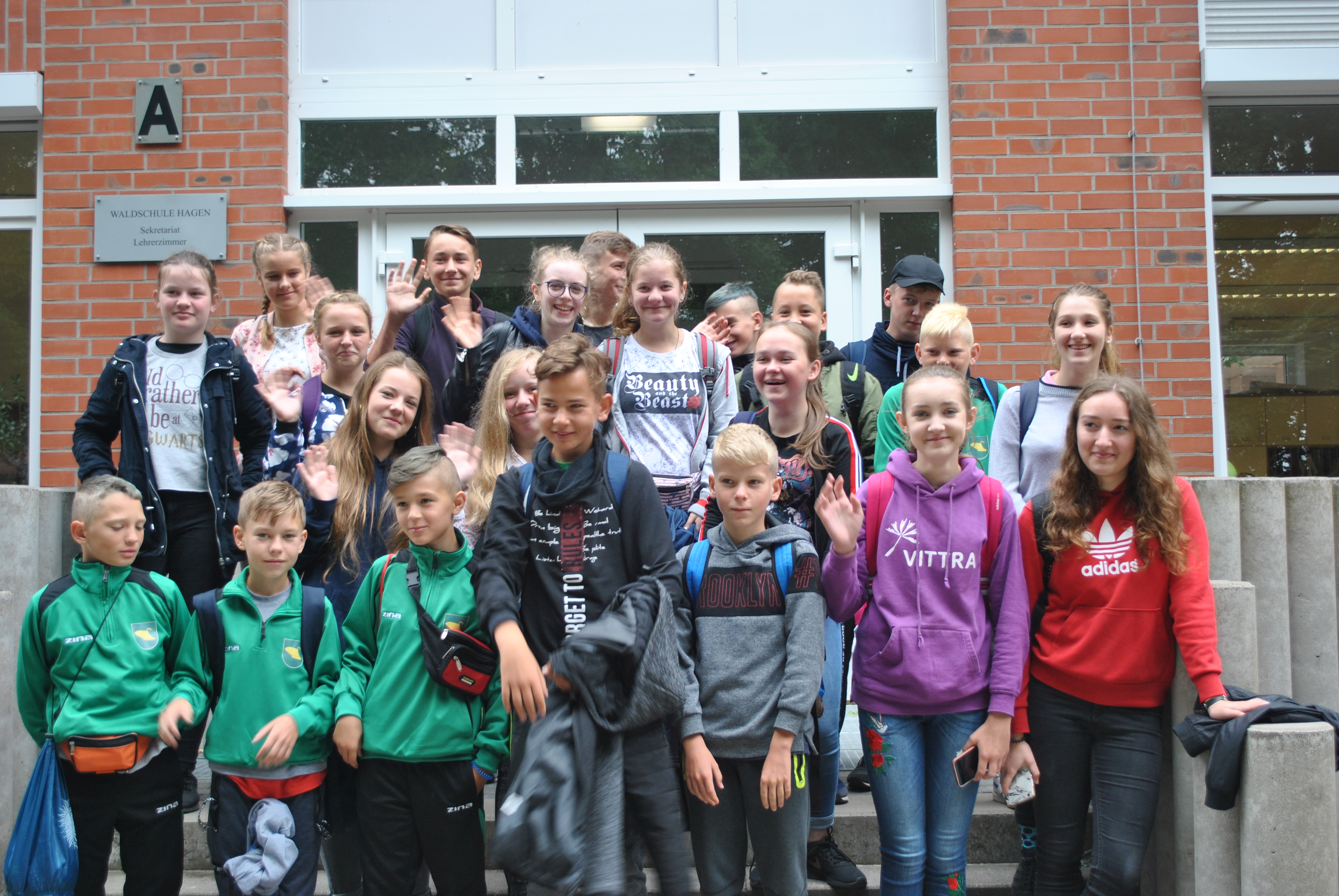 Polnische Austauschschüler besuchen Waldschule